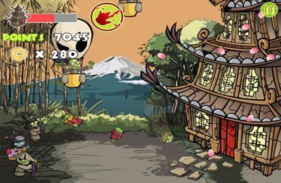 iPhone用ゲーム ゾンビサムライ のスクリーンショット
