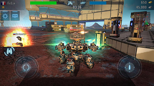 Action Tanks vs robots für das Smartphone