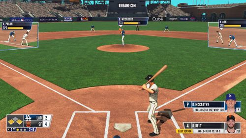 Screenshot R.B.I. Baseball 15 auf dem iPhone