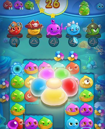 3 Gewinnt Angry slime: New original match 3 auf Deutsch