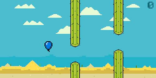 Flappy Bird ähnelnden Spiele Alone balloon auf Deutsch