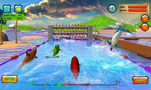 Dolphin racing 3D for Android