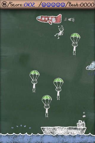 El pánico de paracaídas para iPhone gratis