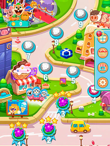 Fruit shake: Candy adventure match 3 game Screenshot