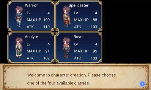 Juegos de rol SRPG Legend of Ixtona para teléfono inteligente