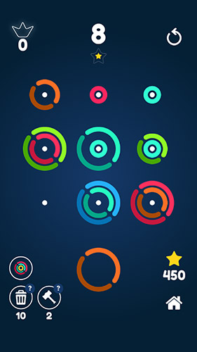 Logic Stackz: Put the rings on. Color puzzle for smartphone