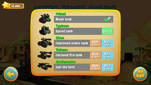 Actionspiele Micro tanks online: Multiplayer arena battle für das Smartphone