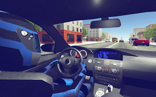 Racing games Police car racer 3D for smartphone