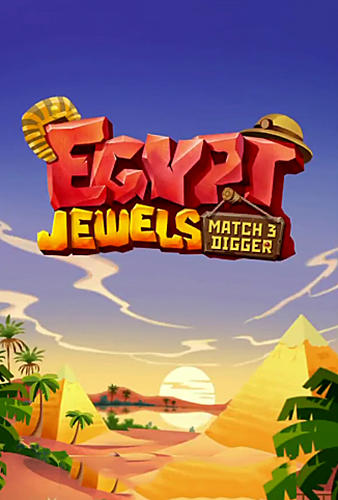 Egypt jewels: Gems match 3 digger Screenshot