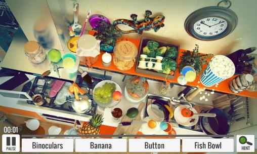 Abenteuer-Spiele Hidden object: Messy kitchen für das Smartphone