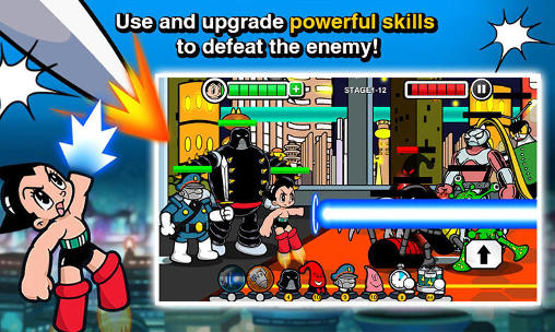 Superhelden-Spiele Astro boy siege: Alien attack auf Deutsch