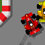 Retro racing: Premium icon