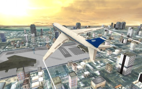 Simulation Flight simulator: City plane für das Smartphone