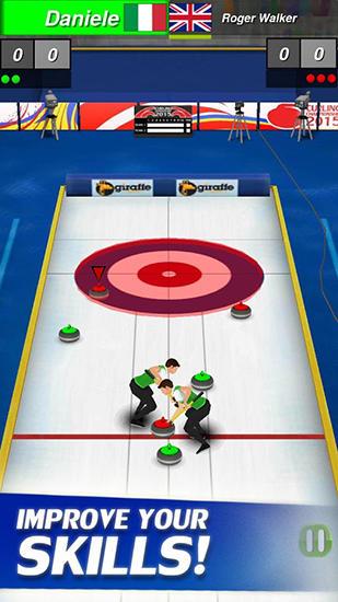Sportspiele Curling 3D by Giraffe games limited für das Smartphone
