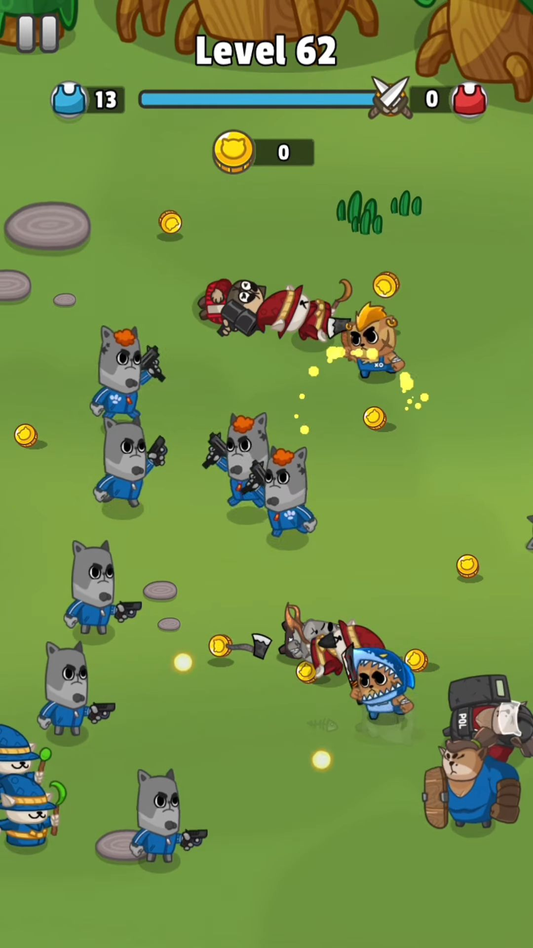 Cats Clash - Epic Battle Arena Strategy Game captura de pantalla 1
