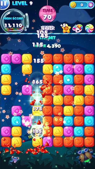 3 Gewinnt-Spiele Pop candy auf Deutsch