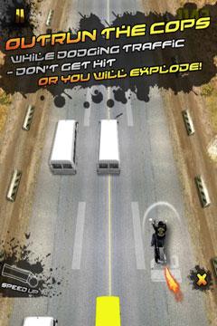 Ein gestzloser Motorradfahrer: Schnelles Rennspiel PRO für iPhone