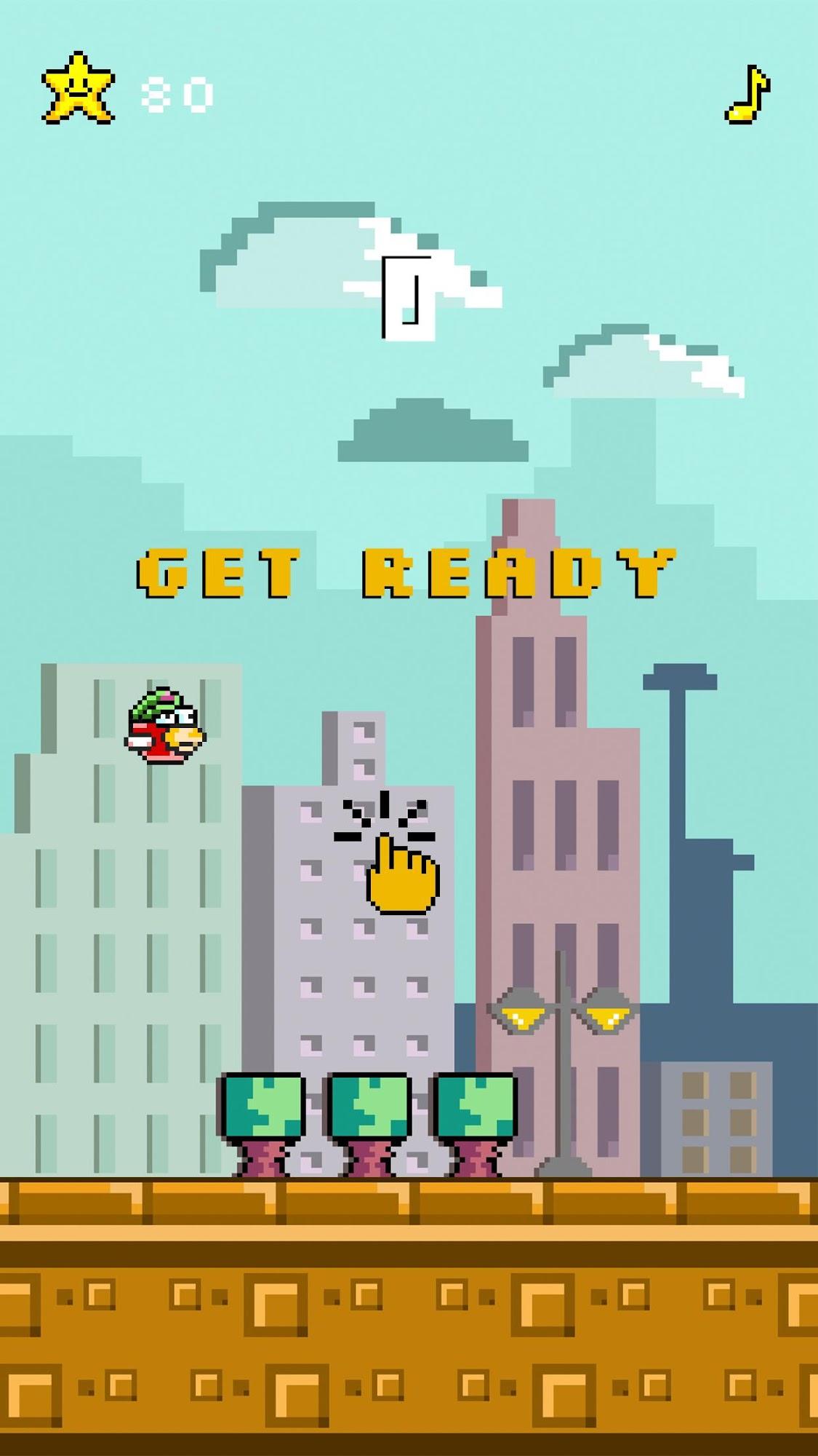 Floppy Bird Pixel captura de tela 1