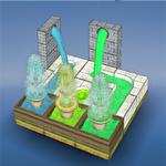 Flow fountain: 3D water puzzle ícone