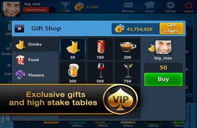 Screenshot Texas Poker Vip auf dem iPhone