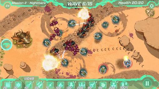 Strategiespiele Tower defense zone für das Smartphone