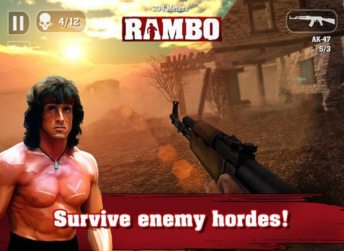 Jogos de ação: faça o download de Rambo para o seu telefone