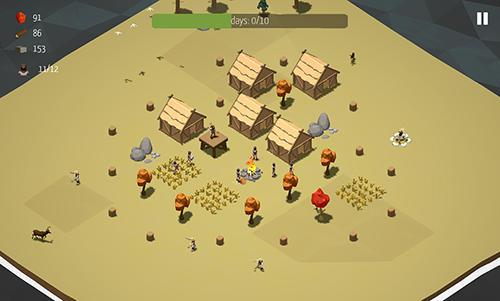Wikinger-Spiele Viking village: RTS auf Deutsch