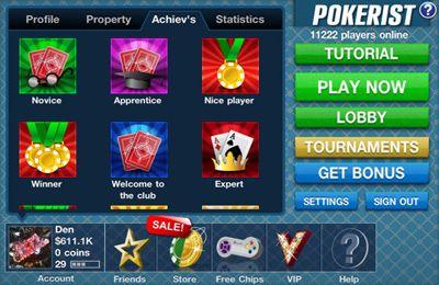 Glücksspiele: Lade Pokerist Pro auf dein Handy herunter