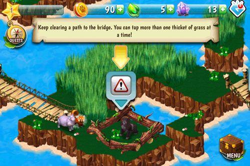 iPhone用ゲーム アニマルヴォイッジ:アイランドアドベンチャー のスクリーンショット