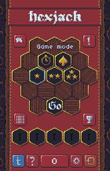Arcade-Spiele Hexjack für das Smartphone