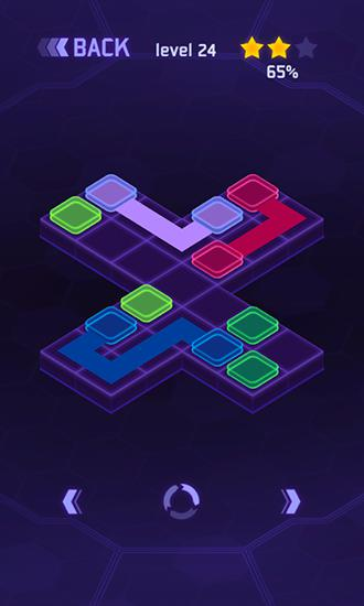 Flow dots: Cyber lines 3D für Android