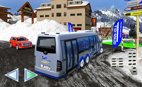 Winter ski park: Snow driver para Android