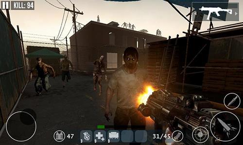 Jogos de ação Dead zombie frontier war survival 3Dpara smartphone