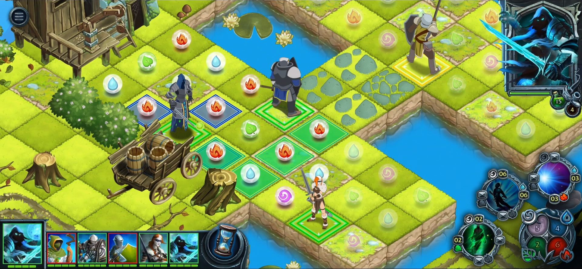 Heroes of War Magic.  Turn-based strategy pour Android