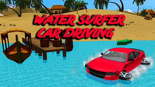 Water surfer car driving icono