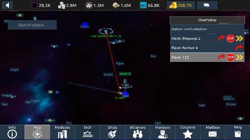 Online Strategiespiele Infinite universe mobile auf Deutsch