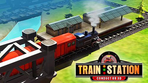 Train station conductor 3D capture d'écran
