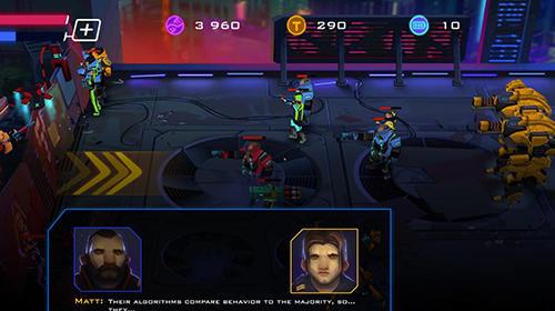 Actionspiele Rise of colonies: Uprising. Cyberpunk 3D action game für das Smartphone