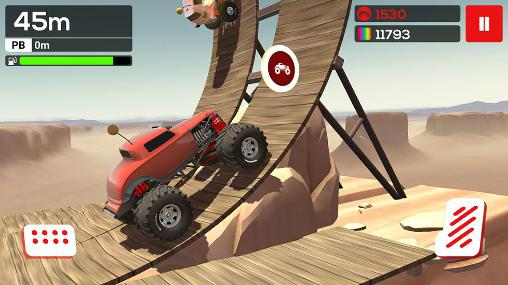 Arcade-Spiele MMX Hill climb für das Smartphone