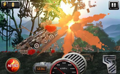 Arcade Extreme army tank hill driver für das Smartphone