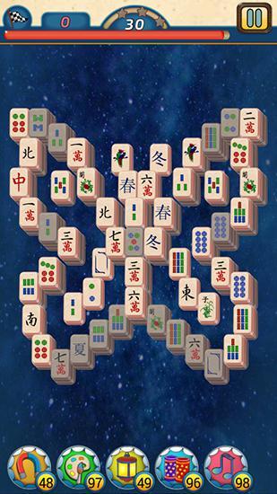 Logic Mahjong village for smartphone