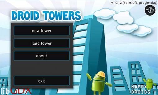 Juegos de arcade Droid towers para teléfono inteligente
