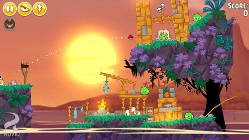 Screenshot Angry Birds Seasons: Tropisches Paradies auf dem iPhone