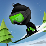 Stickman ski icône