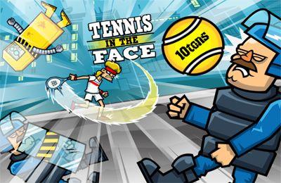 logo Tennis ins Gesicht