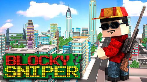 Blocky city sniper 3D Symbol
