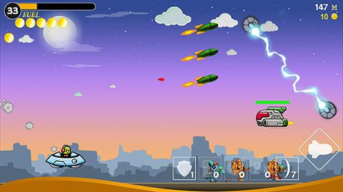 Flugspiele Heroes attack: Alien shooter auf Deutsch