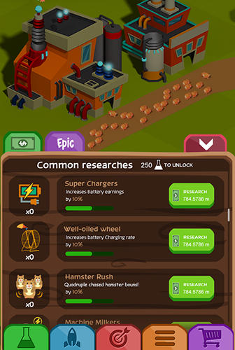 Arcade Tiny hamsters: Idle clicker für das Smartphone