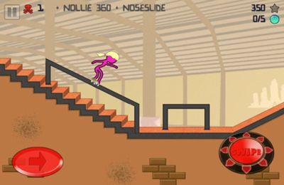 Screenshot Strichmännchen Skater auf dem iPhone