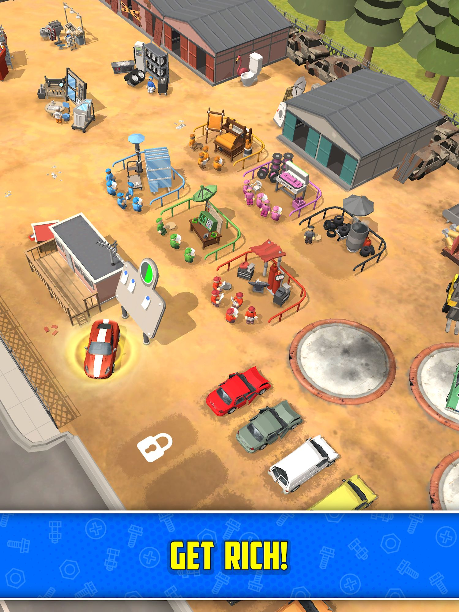 Scrapyard Tycoon Idle Game captura de pantalla 1